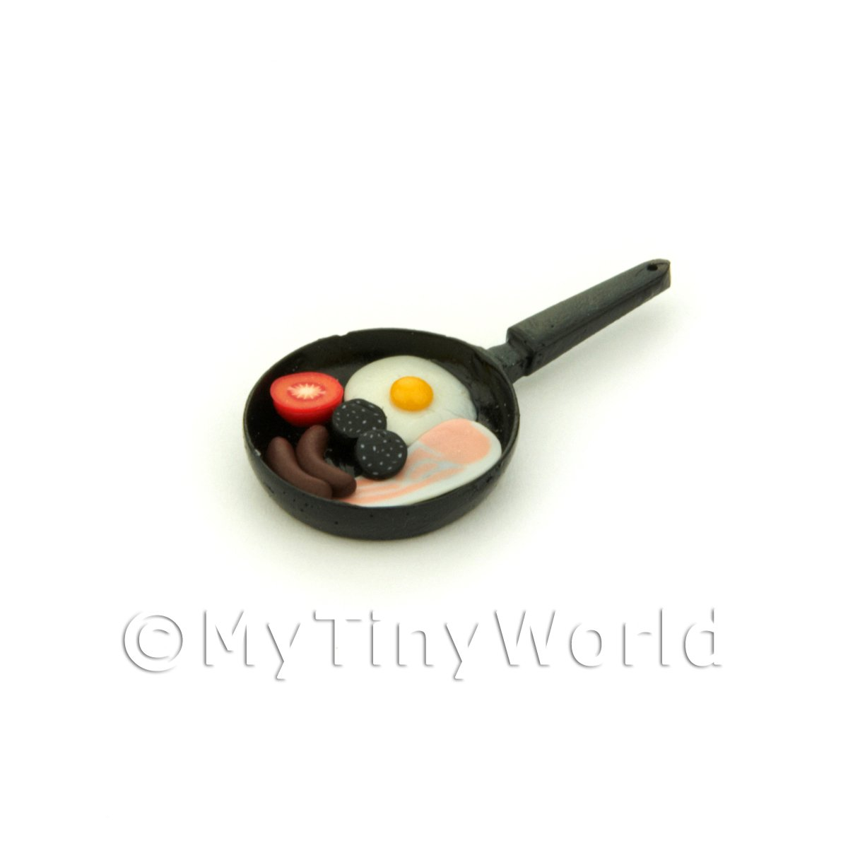 Dolls House Miniature Full Breakfast In a Frying Pan