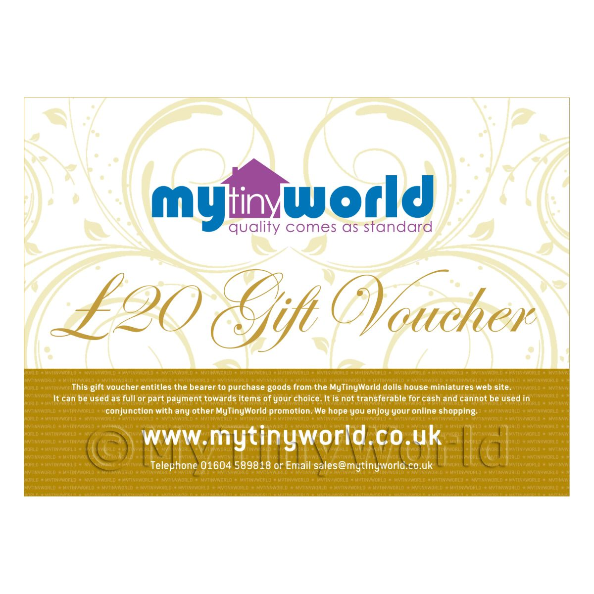 Twenty Pound Gift Voucher For MyTinyWorld Dolls House