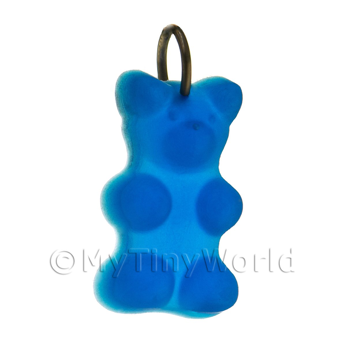 Translucent Royal Blue Jelly Bear Charm