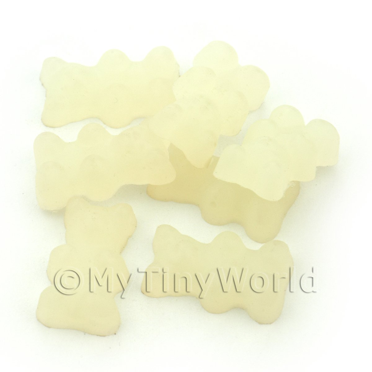Translucent White Jelly Bear Charm For Jewellery