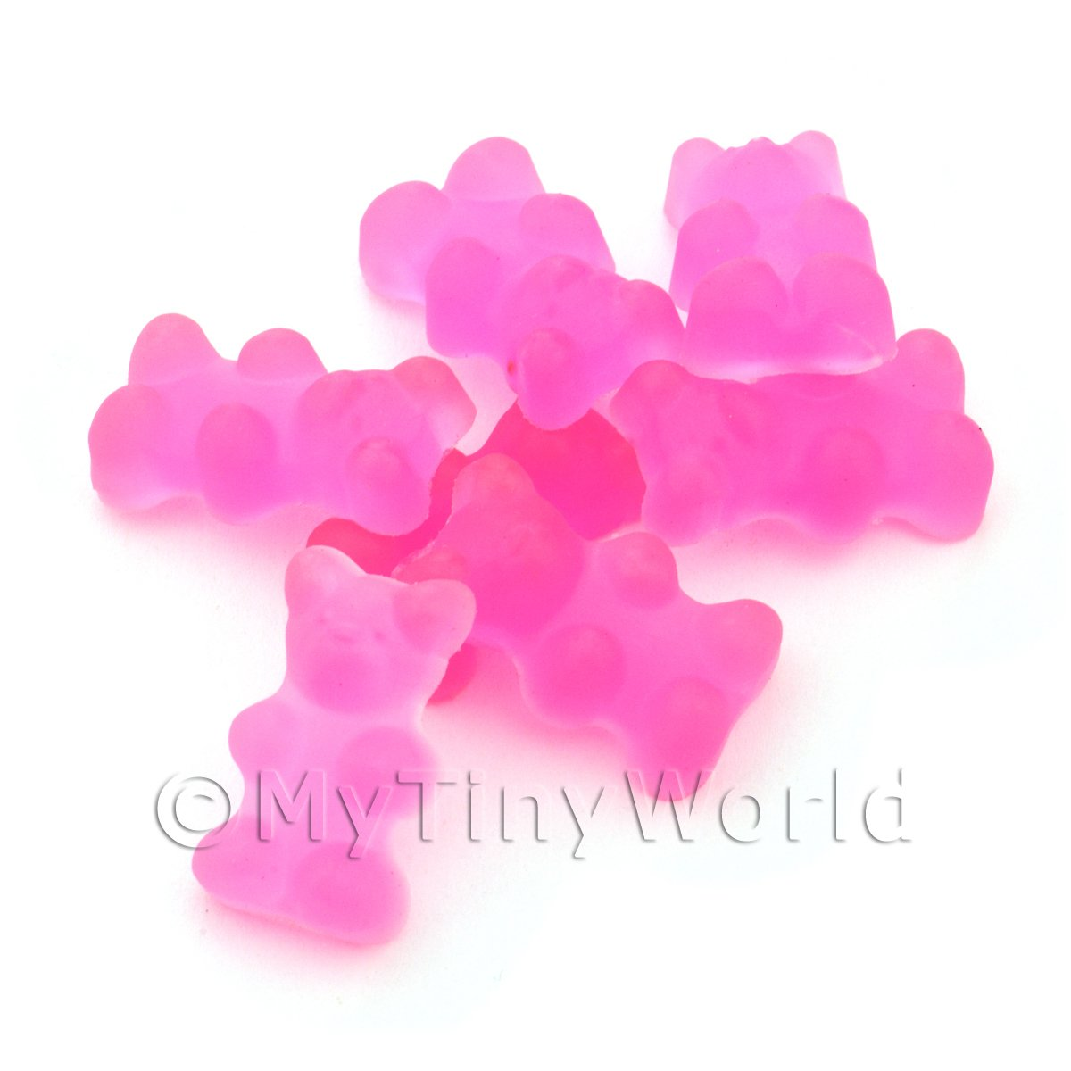 Translucent Light Pink Jelly Bear Charm For Jewellery