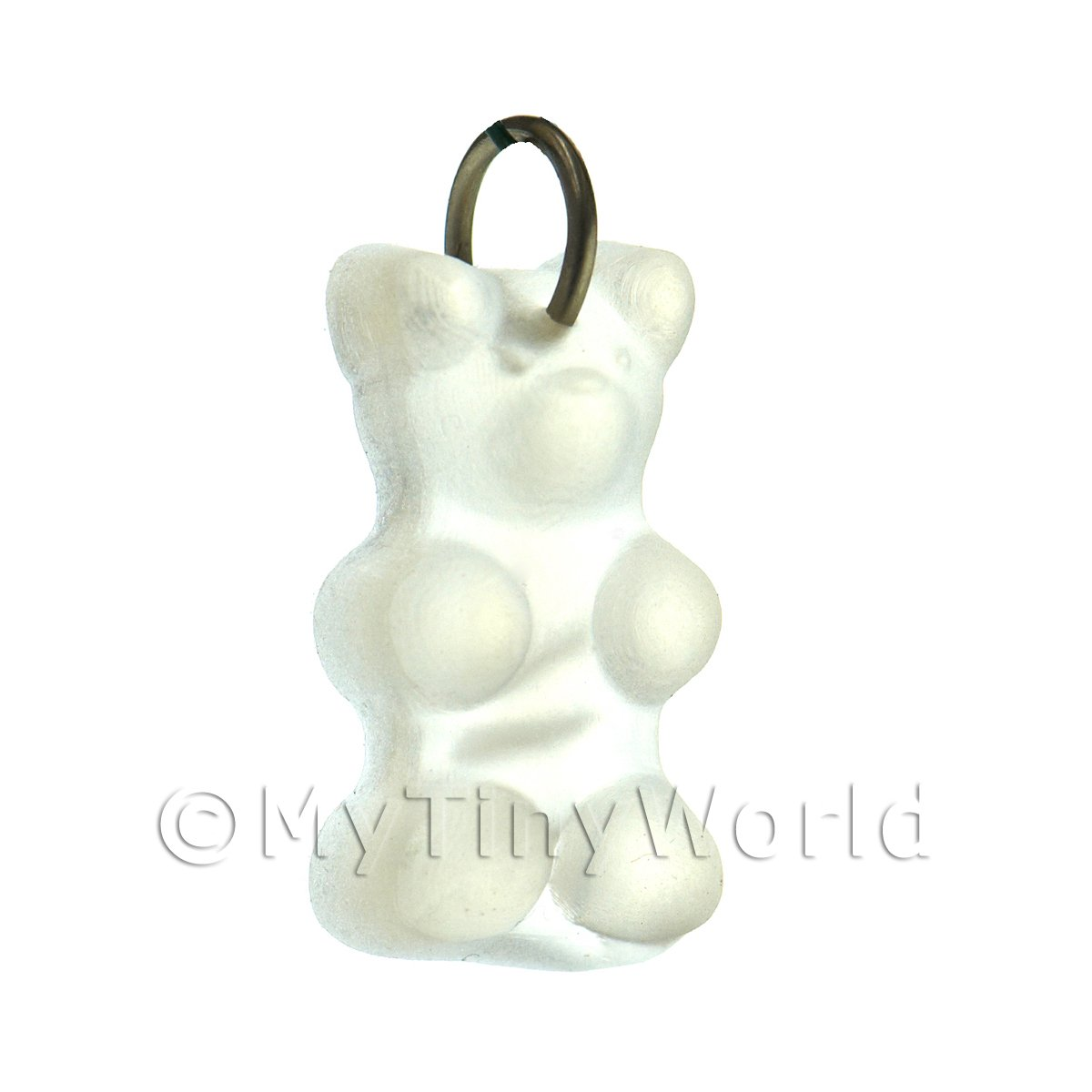 Translucent Clear Jelly Bear Charm