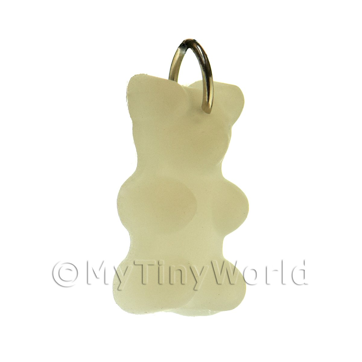 Translucent White Jelly Bear Charm