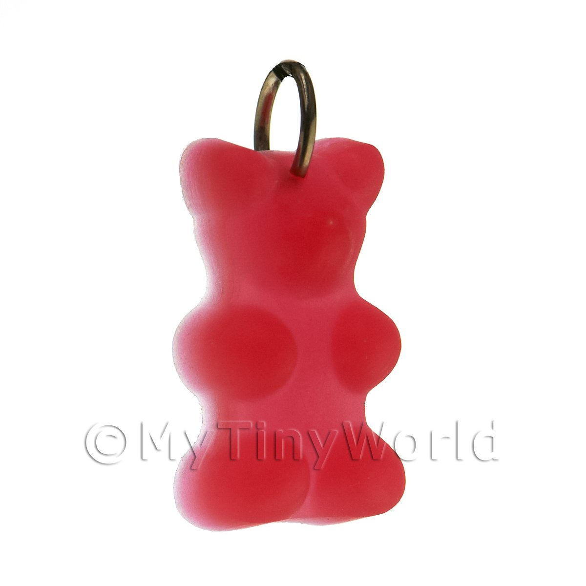 Translucent Deep Red Jelly Bear Charm