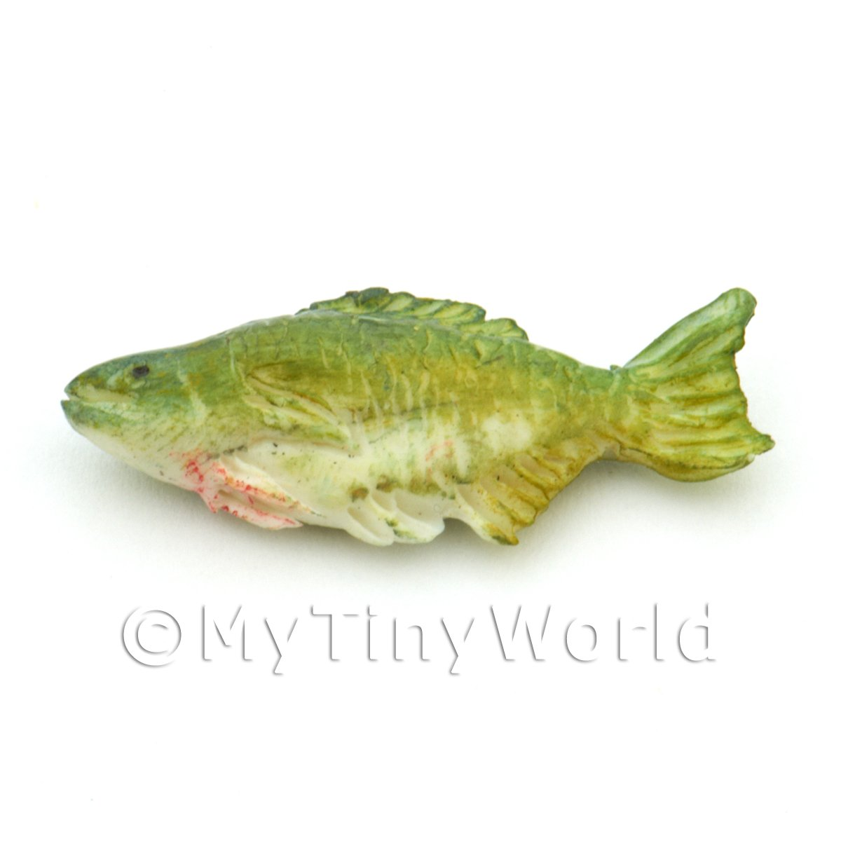 Dolls House Miniature Green and Yellow Fish