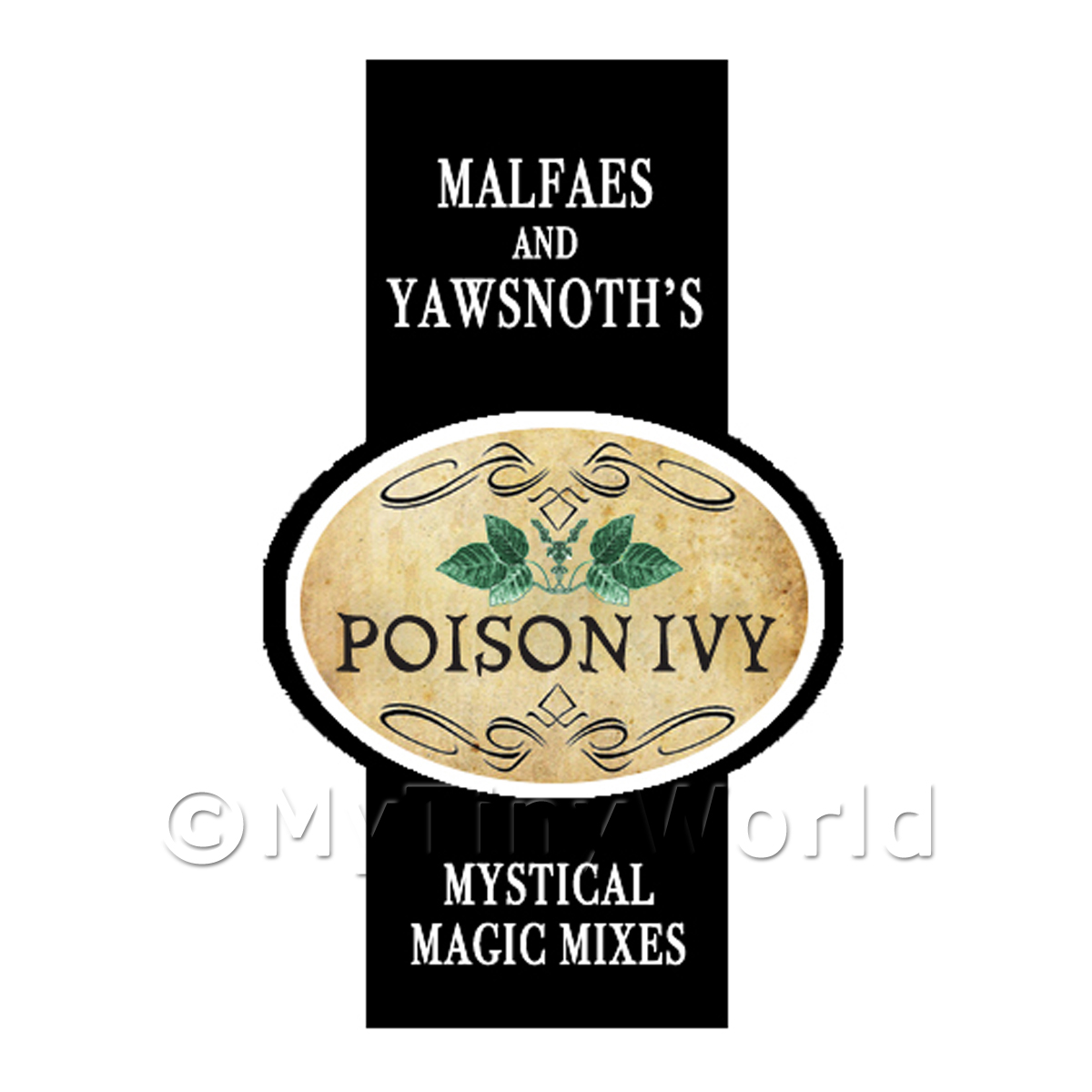 Dolls House Miniature Poison Ivy Magic Label Style 2