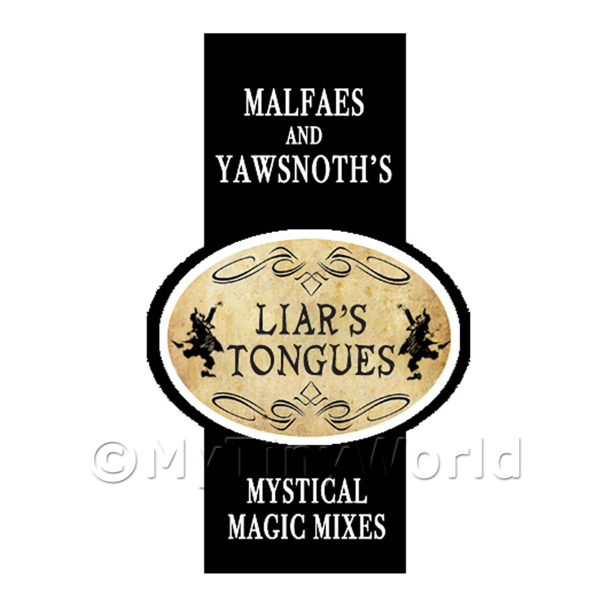 Dolls House Miniature Liars Tongues Magic Label Style 2