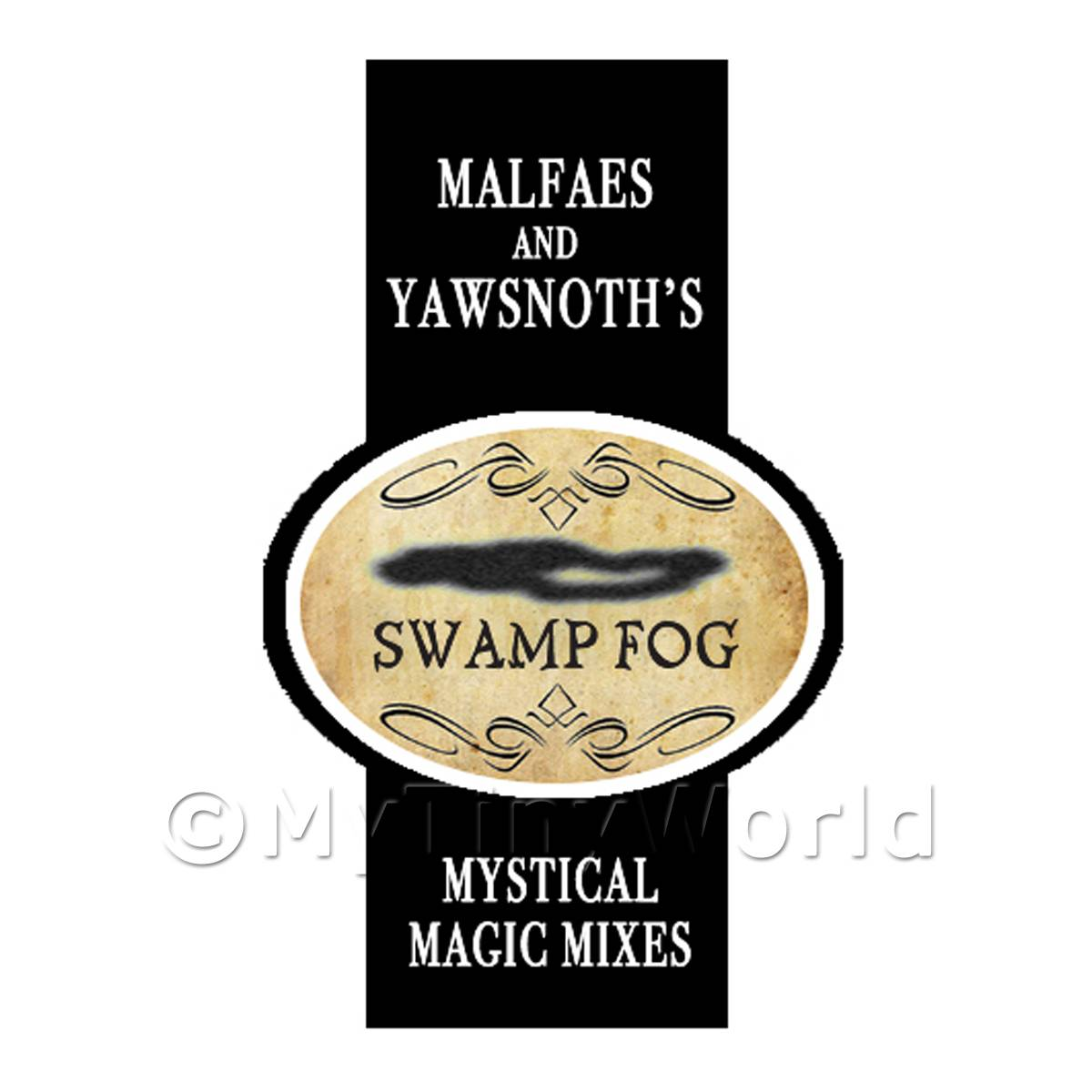 Dolls House Miniature Swamp Fog Magic Label Style 2