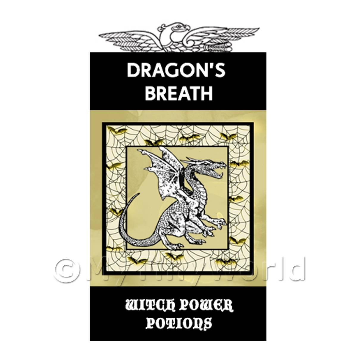 Dolls House Miniature Dragons Breath Magic Label (S4)