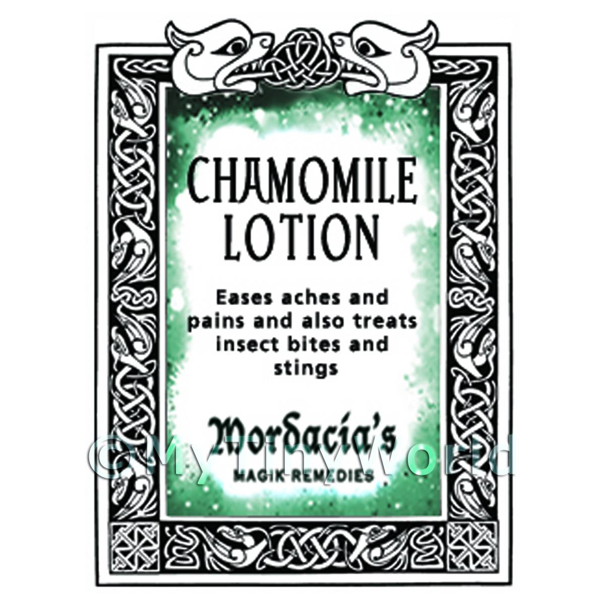 Dolls House Chamomile Lotion Magic Potions Label (S7)