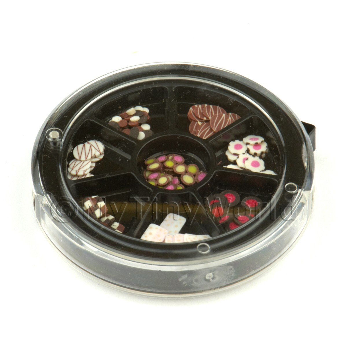 80 Assorted Nail Art Chocolate Slices In a Wheel Set 2