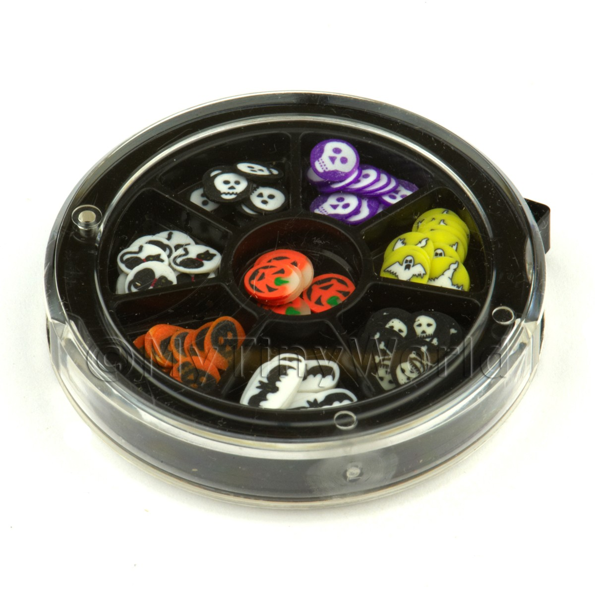 80 Assorted Nail Art Halloween Slices In a Wheel Set 2
