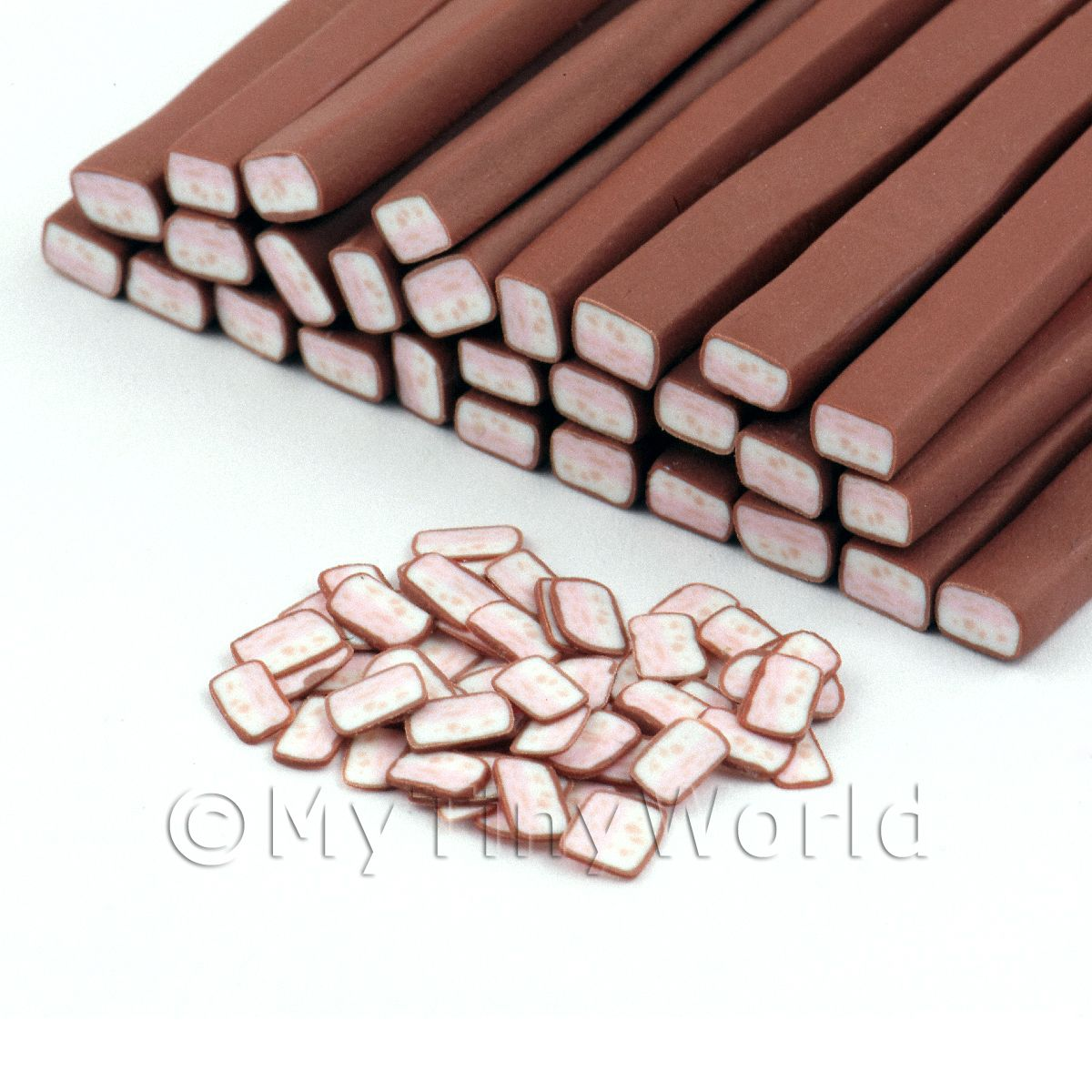 Chocolate covered Nougat Cane - Nail Art (11NC49)