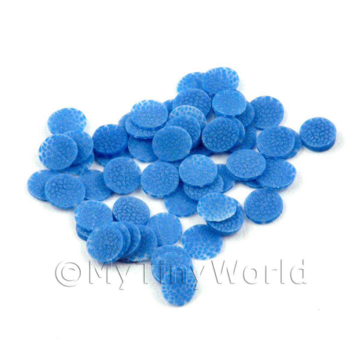 50 All Sorts Blue Jelly Cane Slices - Nail Art (11NS42)