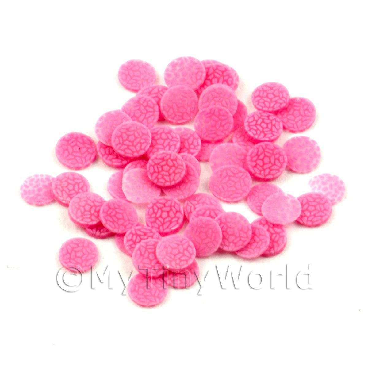 50 All Sorts Pink Jelly Cane Slices - Nail Art (11NS43)