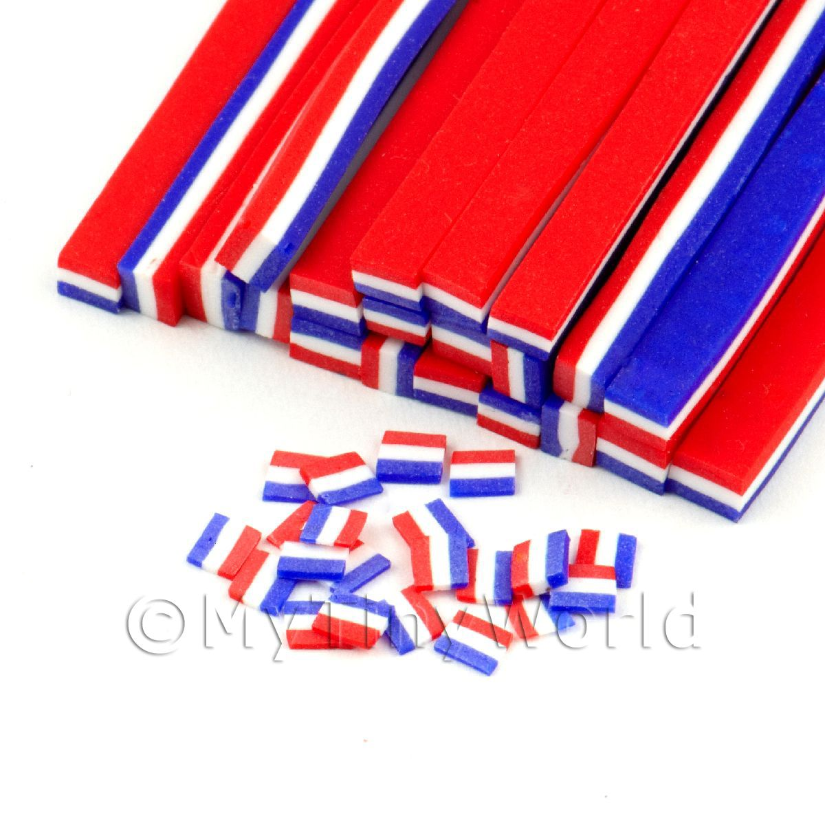Handmade Dutch Flag Cane - Nail Art (11NC66)