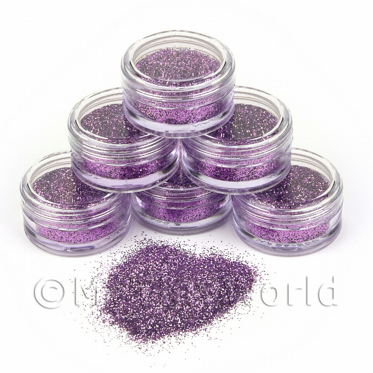 High Quality Nail Art Glitter - 2g Pot - Lovely Lilac