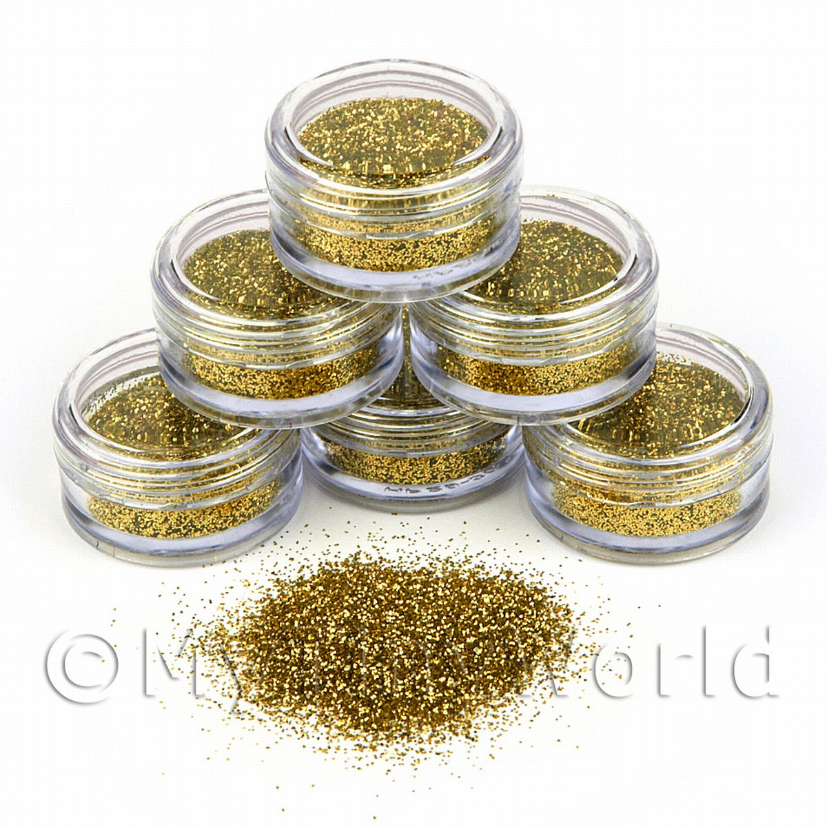 High Quality Nail Art Glitter - 2g Pot - Fools Gold