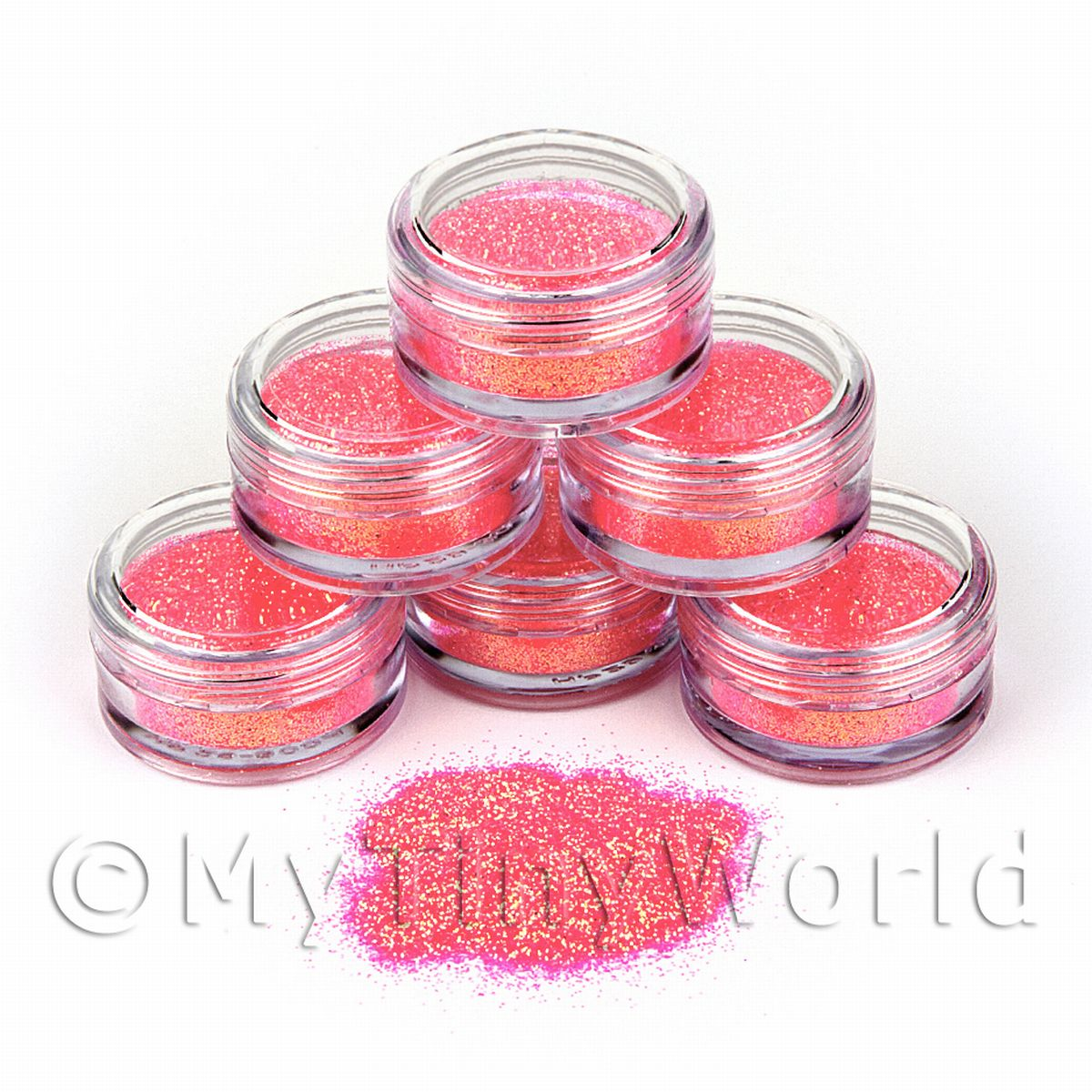 High Quality Nail Art Glitter - 2g Pot - Pink Princess
