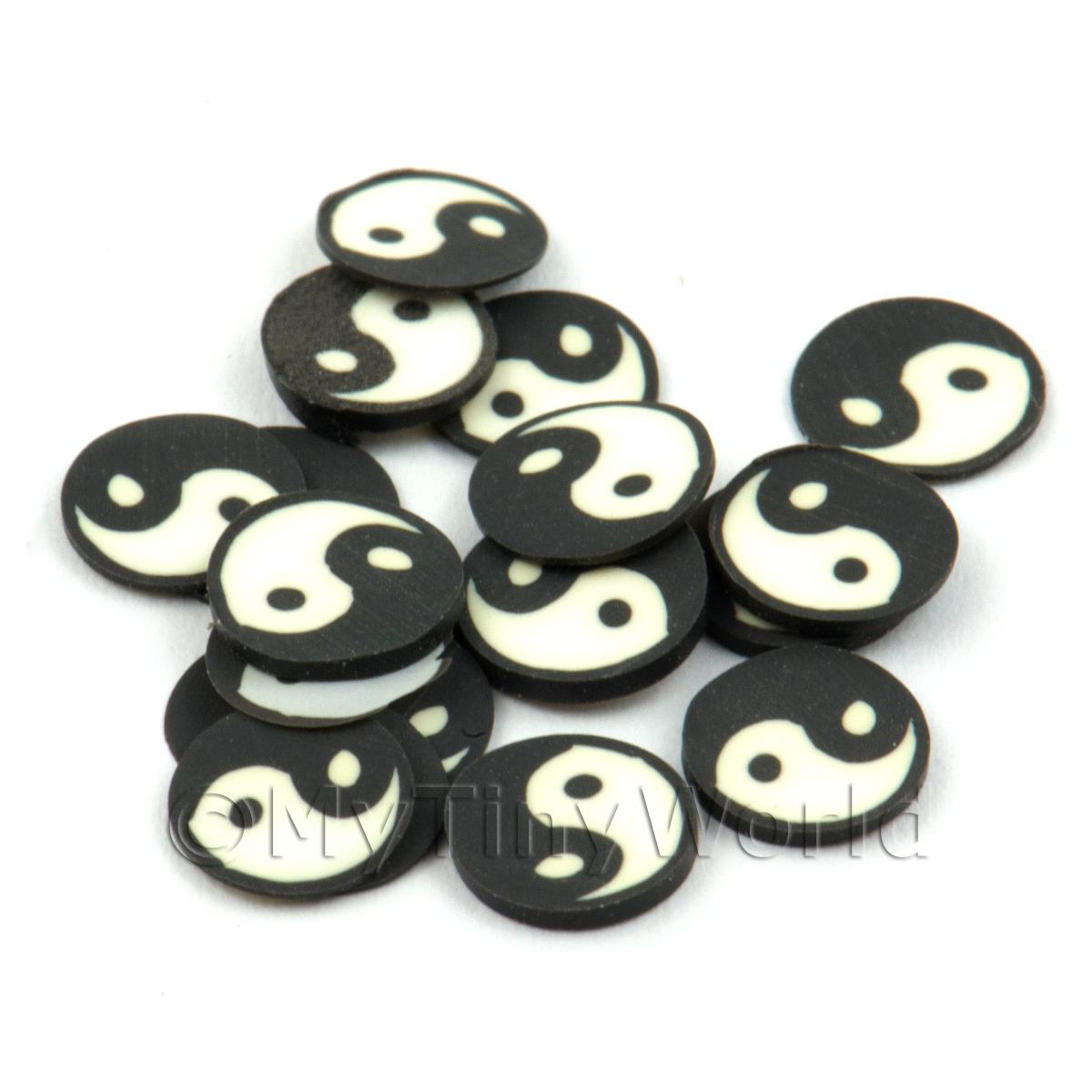 50 Handmade Yin and Yang Cane Slices (DNS51)