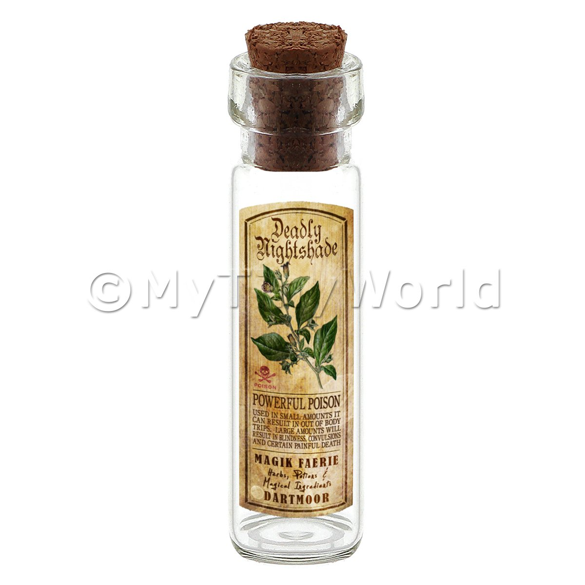 Dolls House Apothecary Nightshade Herb Long Colour Label And Bottle