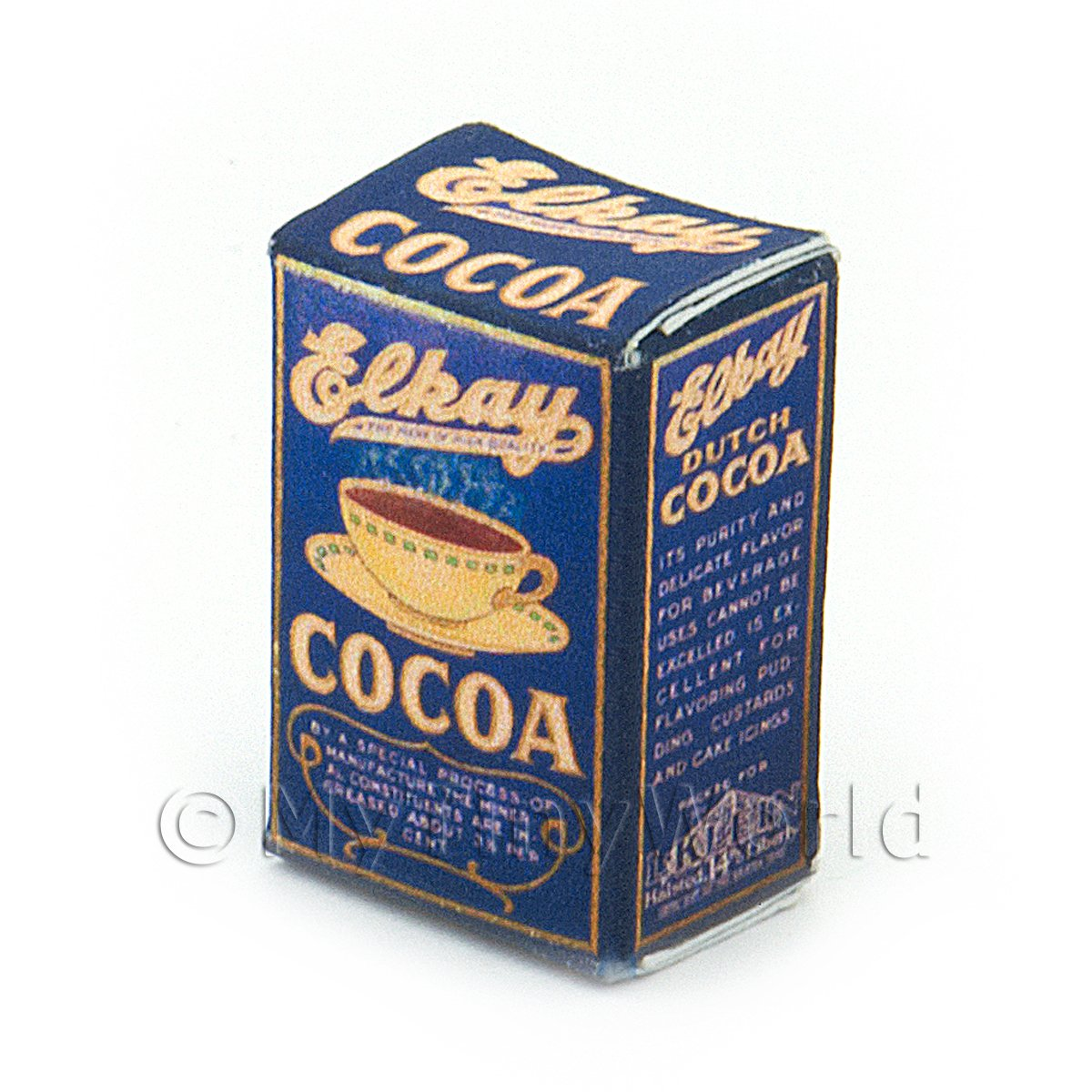Dolls House Miniature Elkay Cocoa Box From 1900-1950