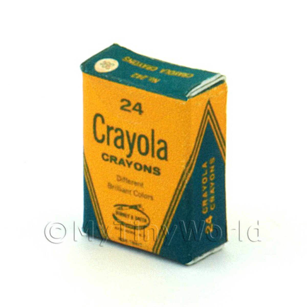 Dolls House Miniature Crayola Crayons Box From 1970s