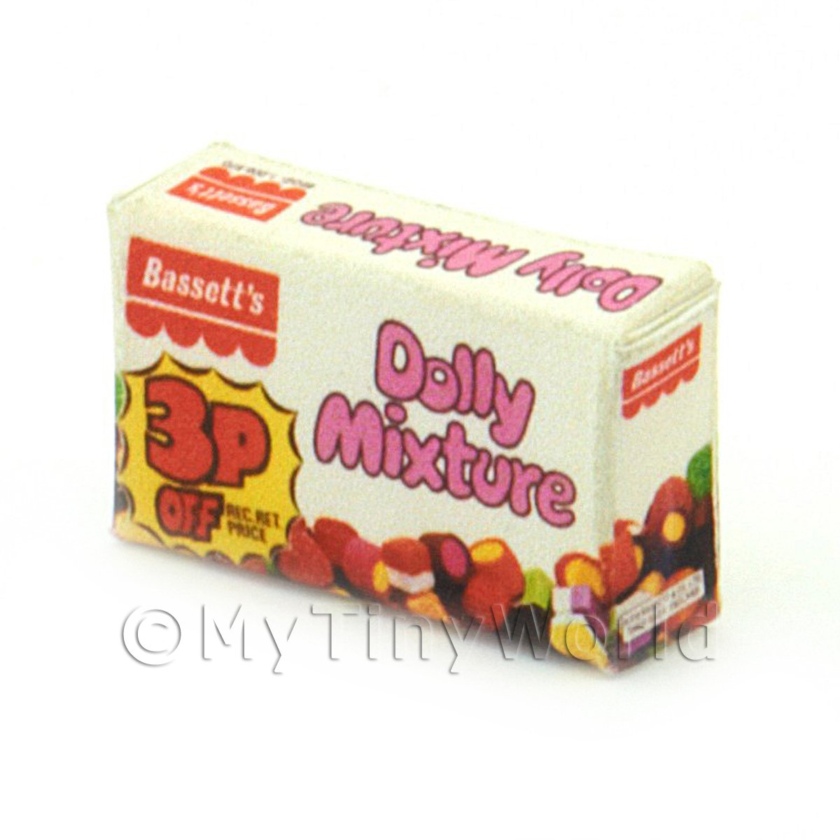 Dolls House Miniature Dolly Mixture Box From 1970s-80s
