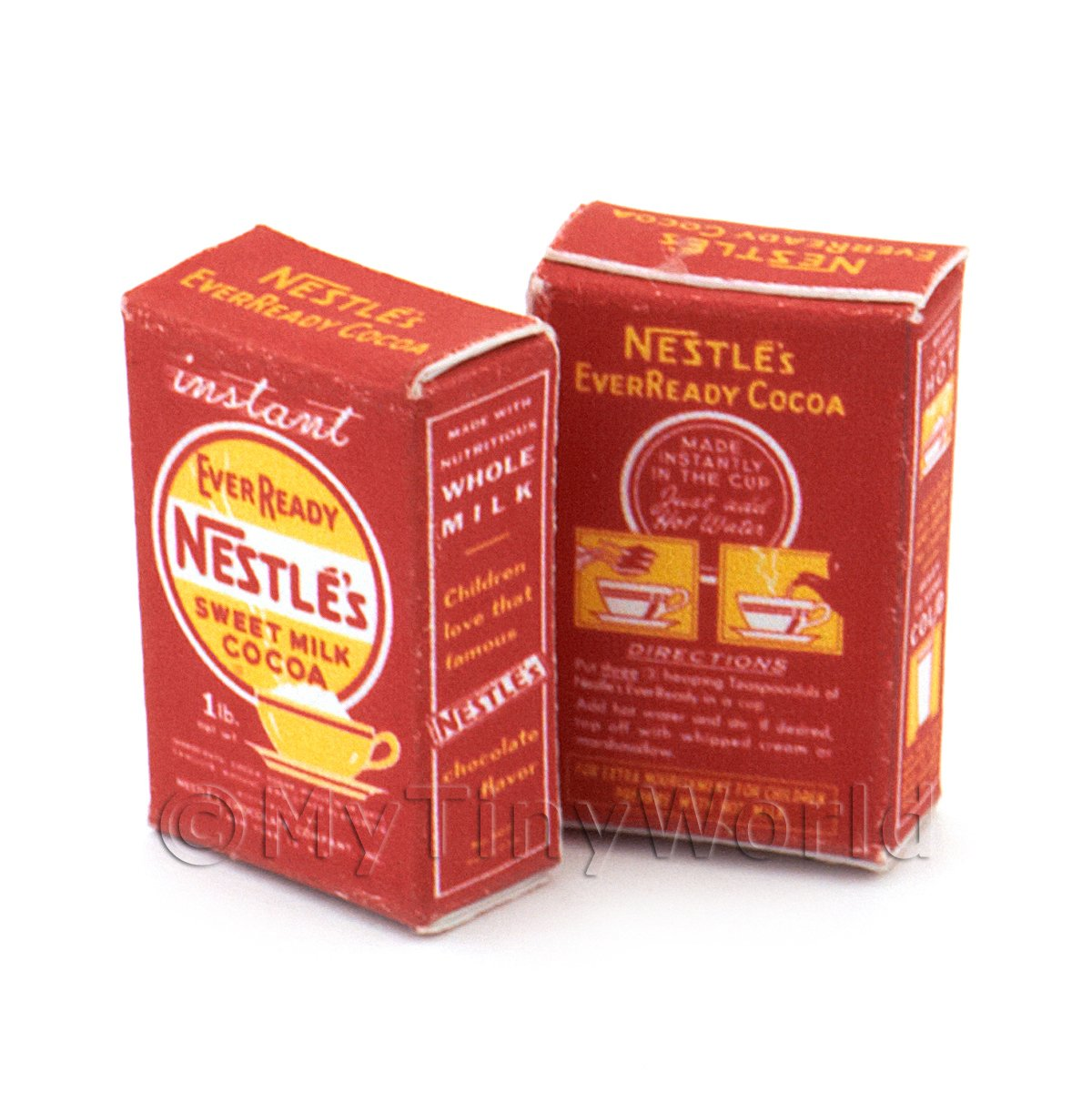 Dolls House Miniature Nestle Cocoa Box From 1930-50s