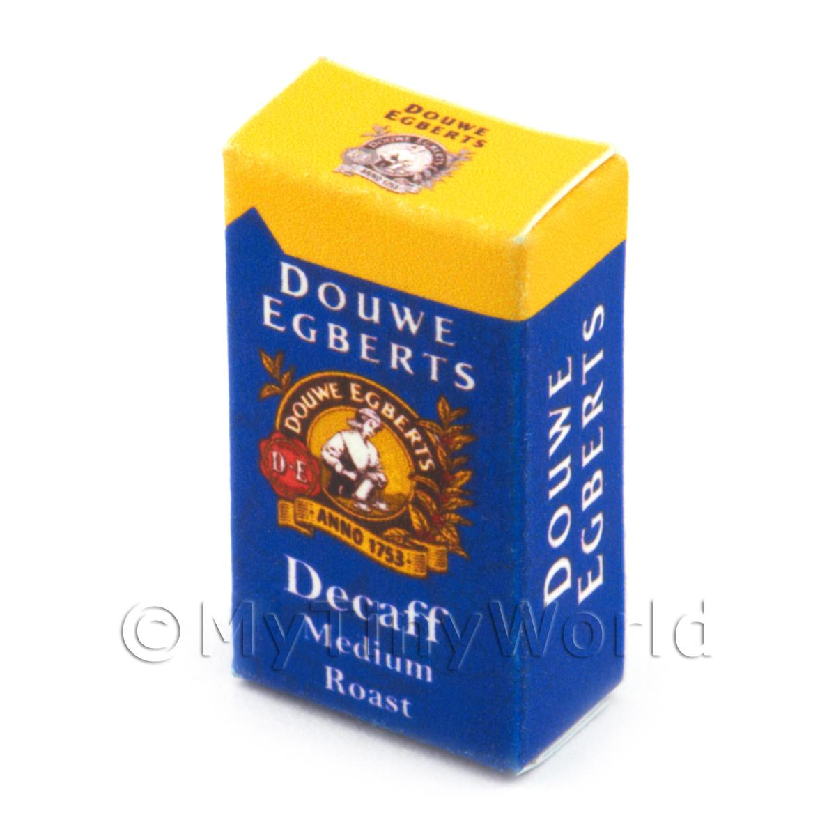 Dolls House Miniature Douwe Egberts Decaff Box