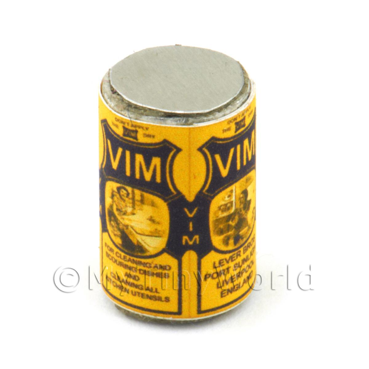Dolls House Miniature Vim Cleaning Powder Can (1910s)