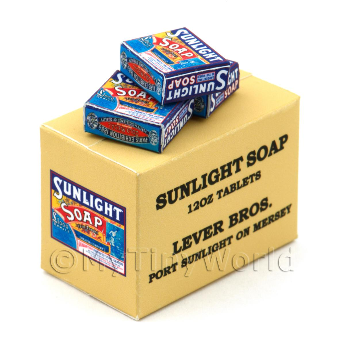 Dolls House Miniature Sunlight Soap Bar Stock Box And 3 Boxes