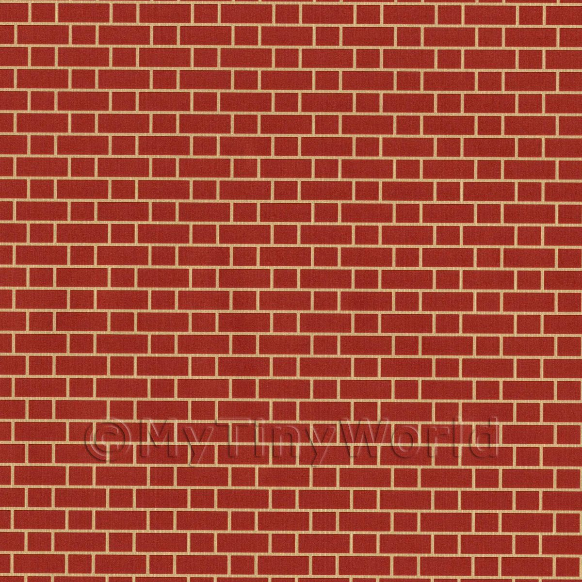 Dolls House Miniature Red Brick Cladding Paper
