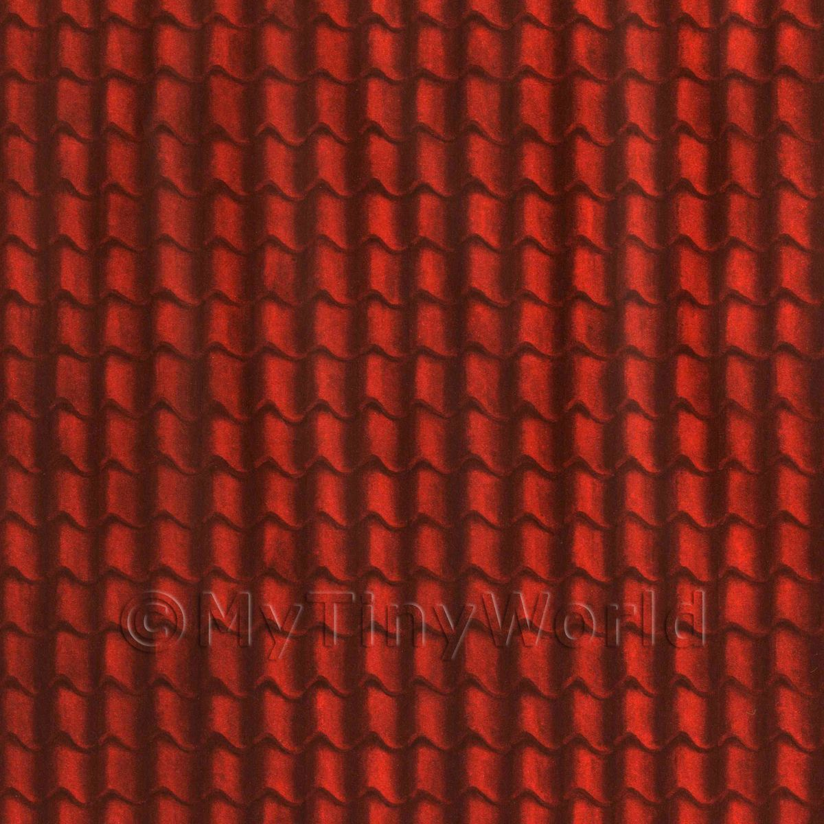 Dolls House Miniature Red Roof Tile Cladding Paper