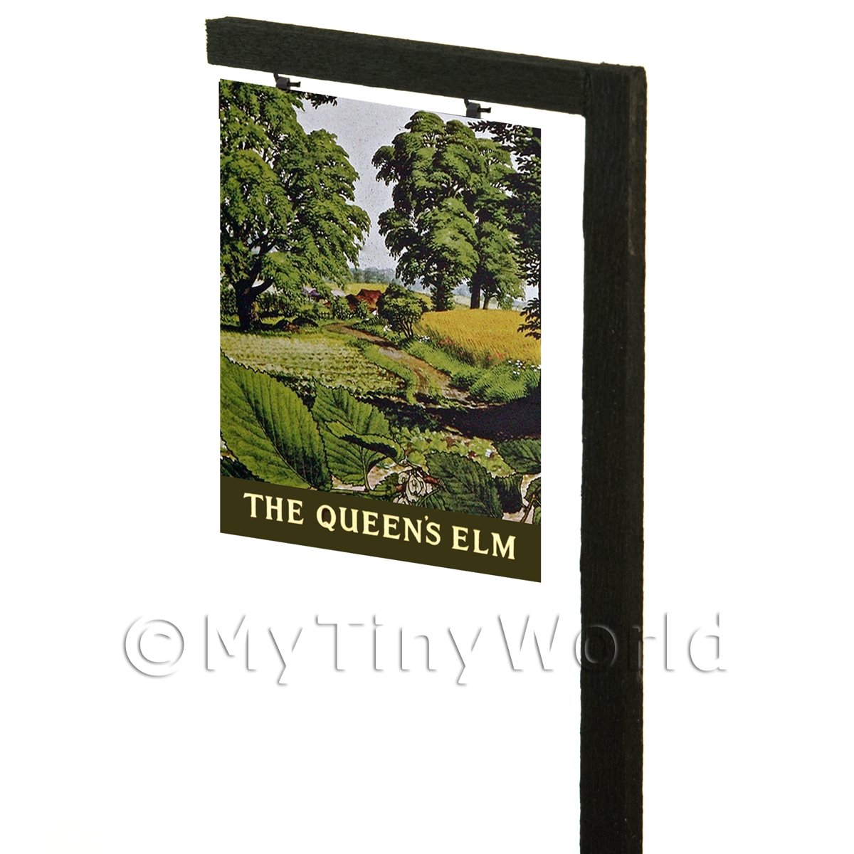 Free Standing Dolls House Pub / Tavern Sign - The Queens Elm