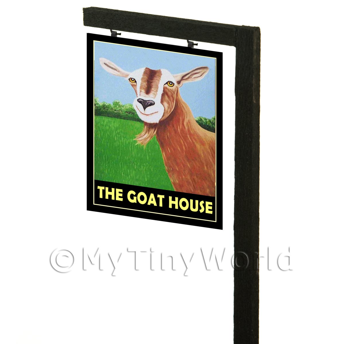 Free Standing Dolls House Pub / Tavern Sign - The Goat House