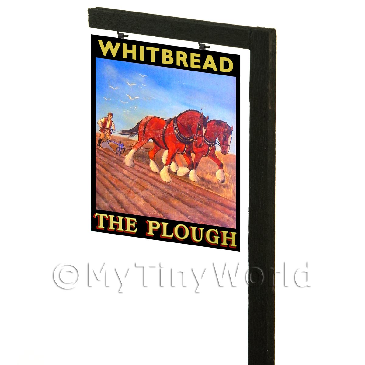 Free Standing Dolls House Pub / Tavern Sign - The Plough
