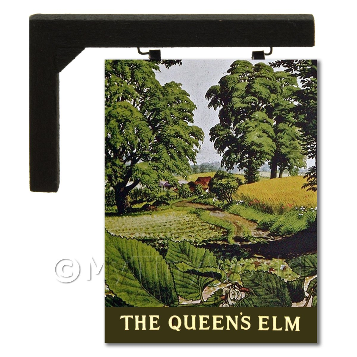 Wall Mounted Dolls House Pub / Tavern Sign - The Queens Elm