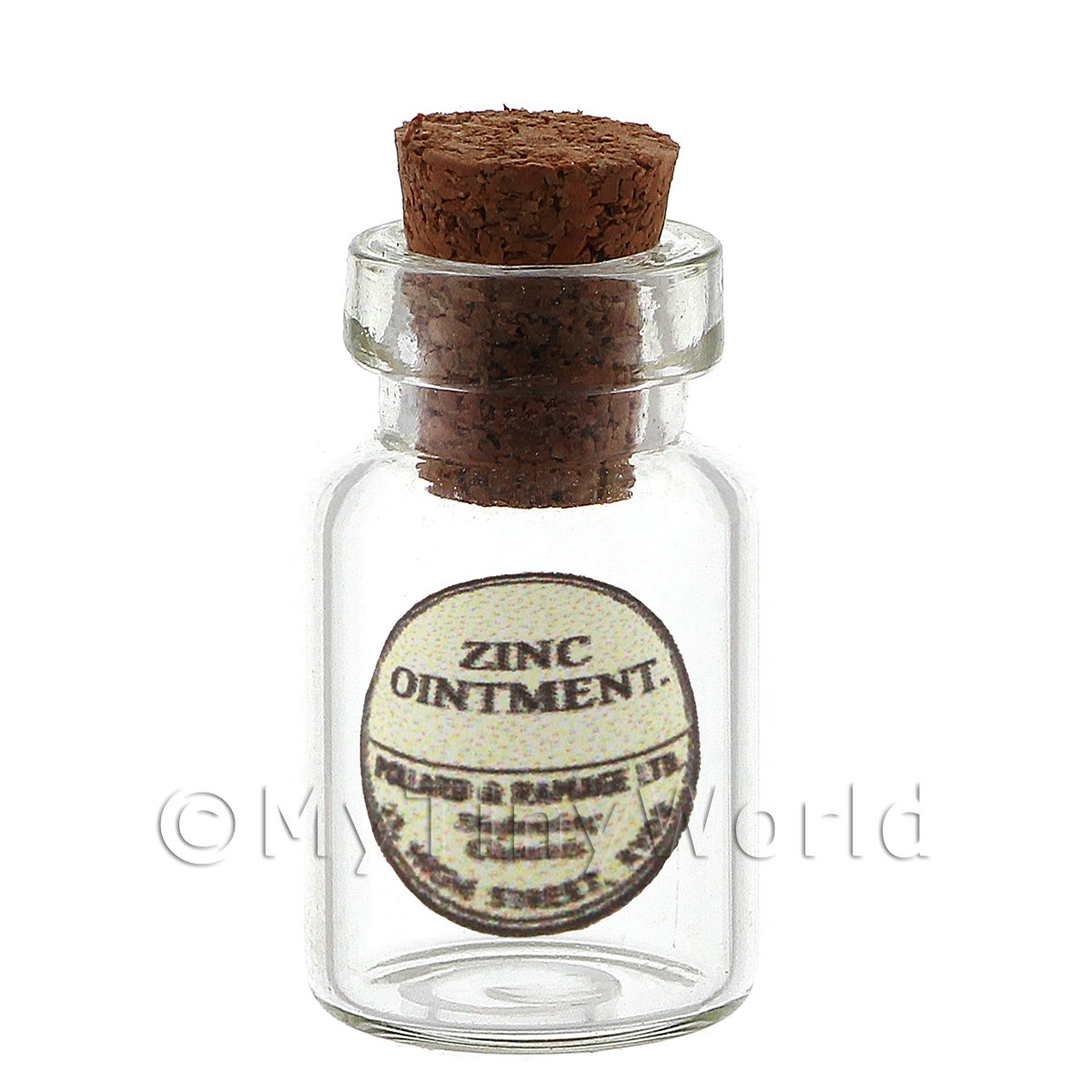Dolls House Miniature Zinc Ointment Glass Apothecary Ointment Jar