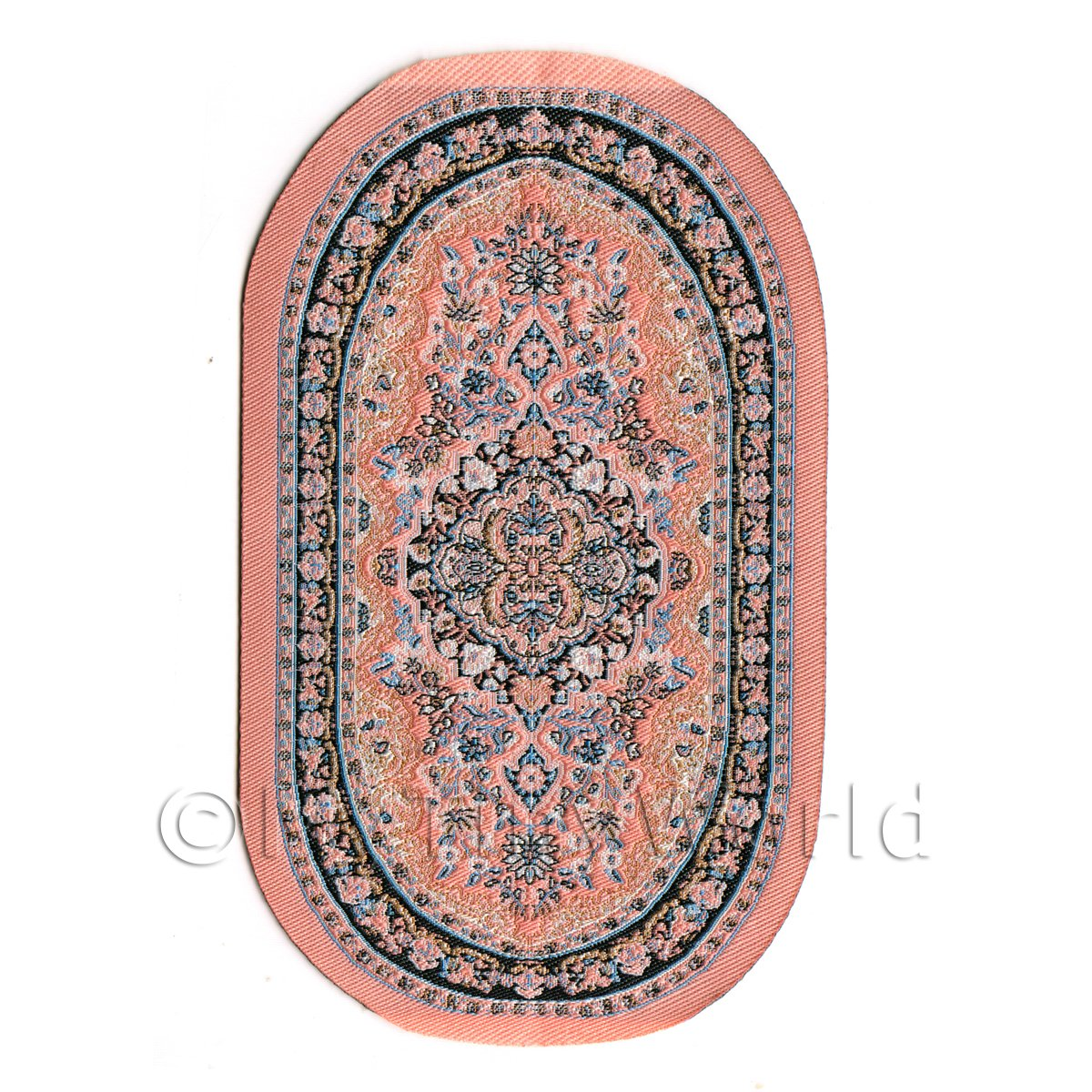 Dolls House Miniature 16th Century Small Oval Carpet / Rug (16NSO01)