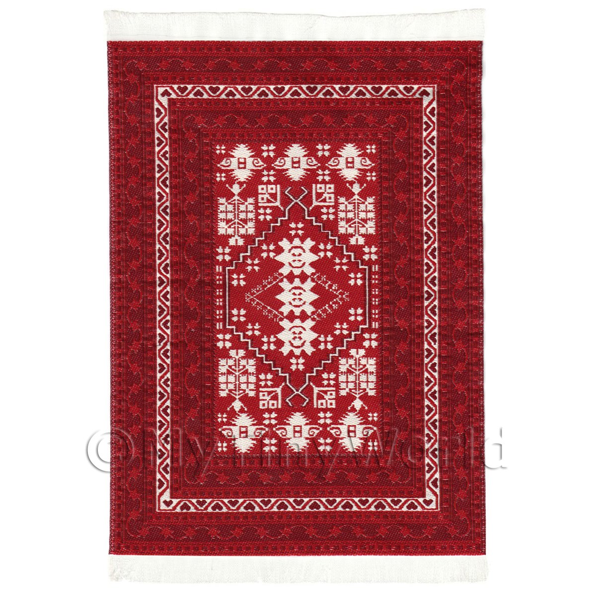 Dolls House Medium 16th Century Rectangular Carpet / Rug (16NMR06)