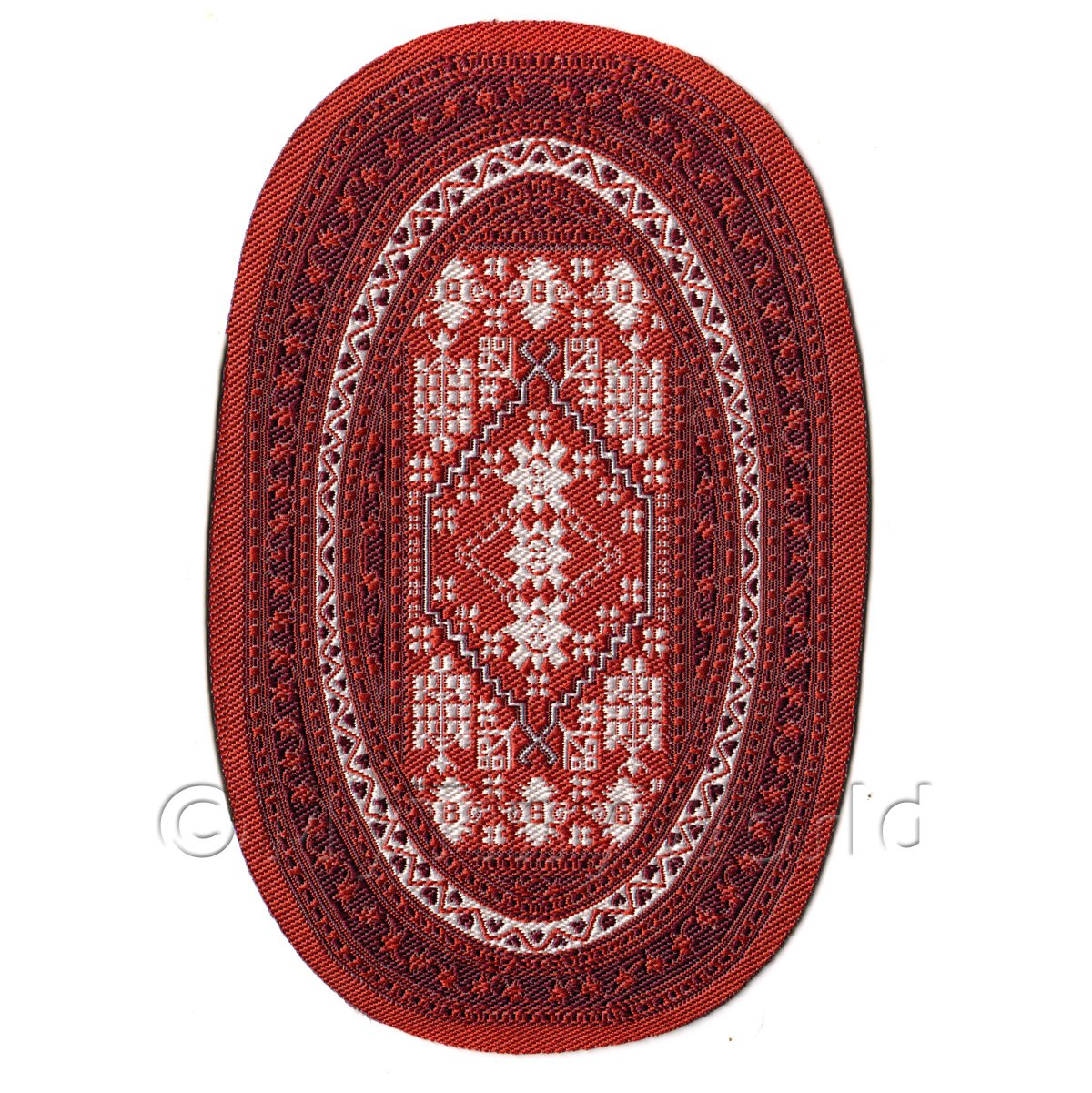 Dolls House Small 16th Century Oval Carpet / Rug (16NSO02)