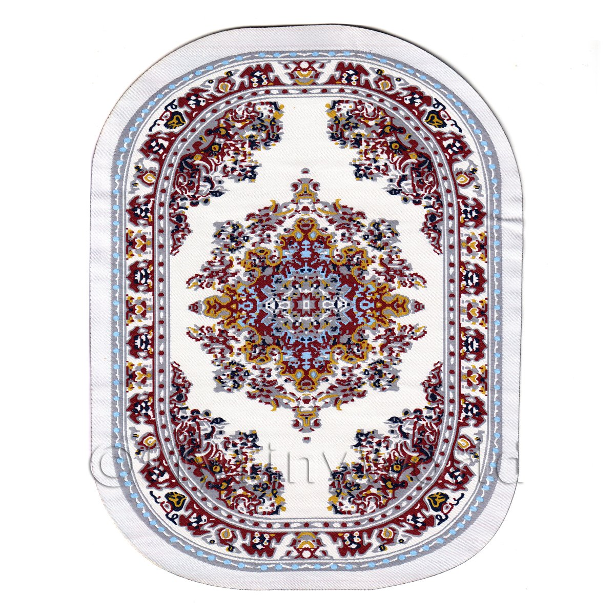 Dolls House Miniature Large Oval Victorian Carpet / Rug (VCLO03)