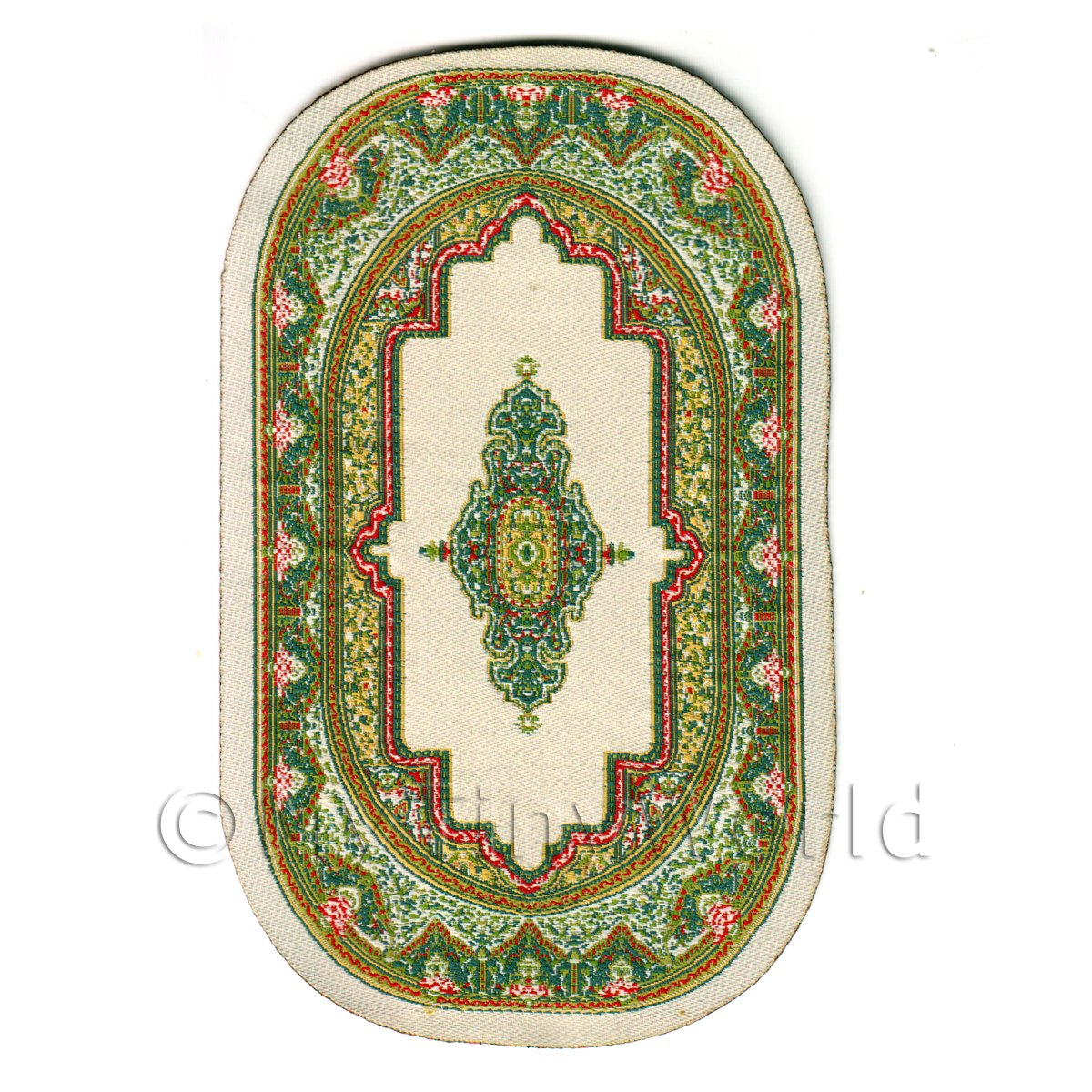 Dolls House Miniature Small Oval Victorian Carpet / Rug (VCNSO02)