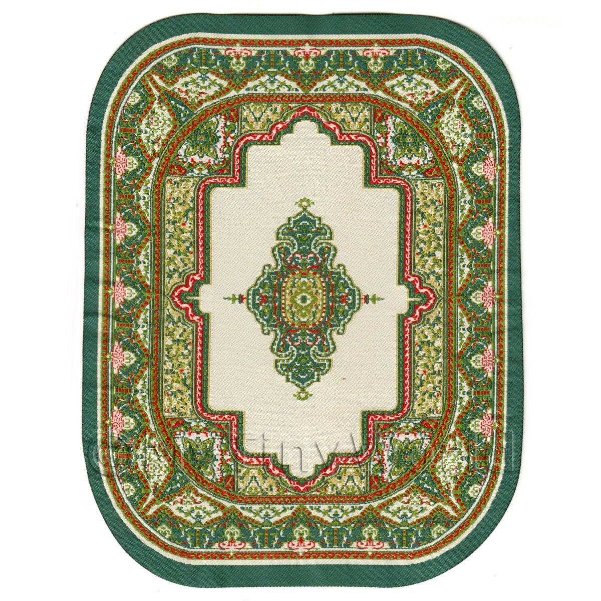 Dolls House Miniature Large Oval  Victorian Carpet / Rug ( VCLO02)