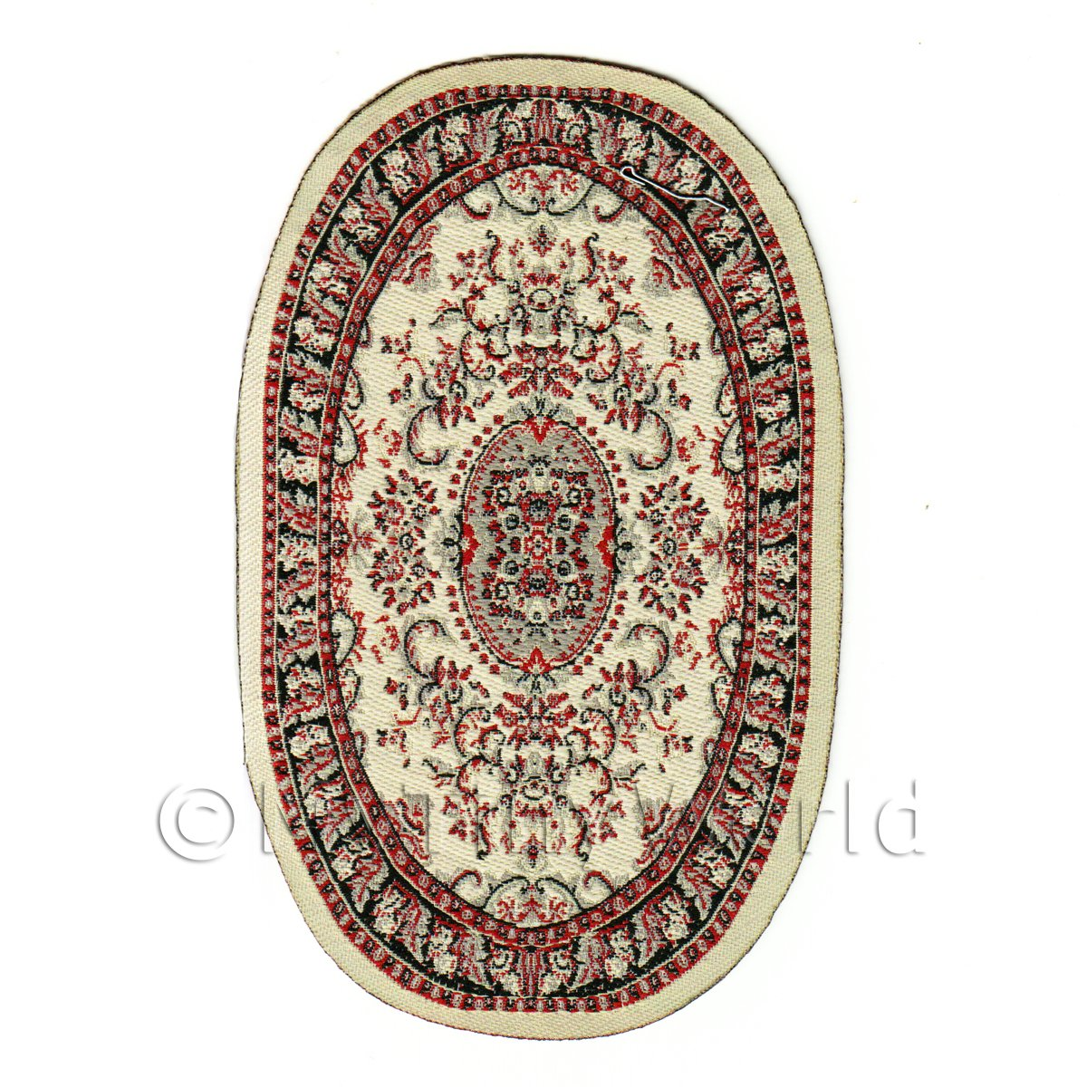 Dolls House Miniature Small Oval Victorian Rug (VCNSO01)