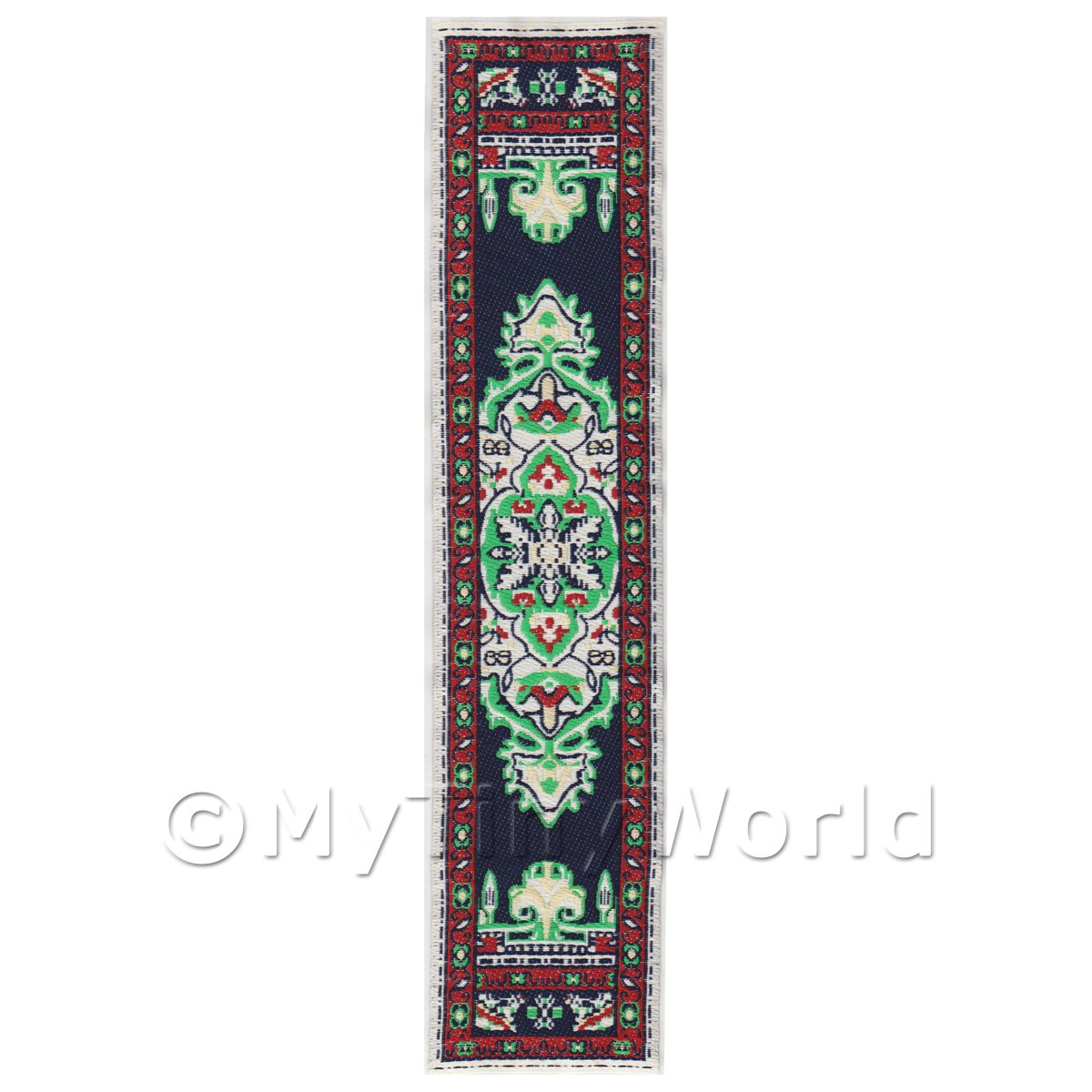 Dolls House Miniature 24cm Woven Turkish Hall Runner (TR002)