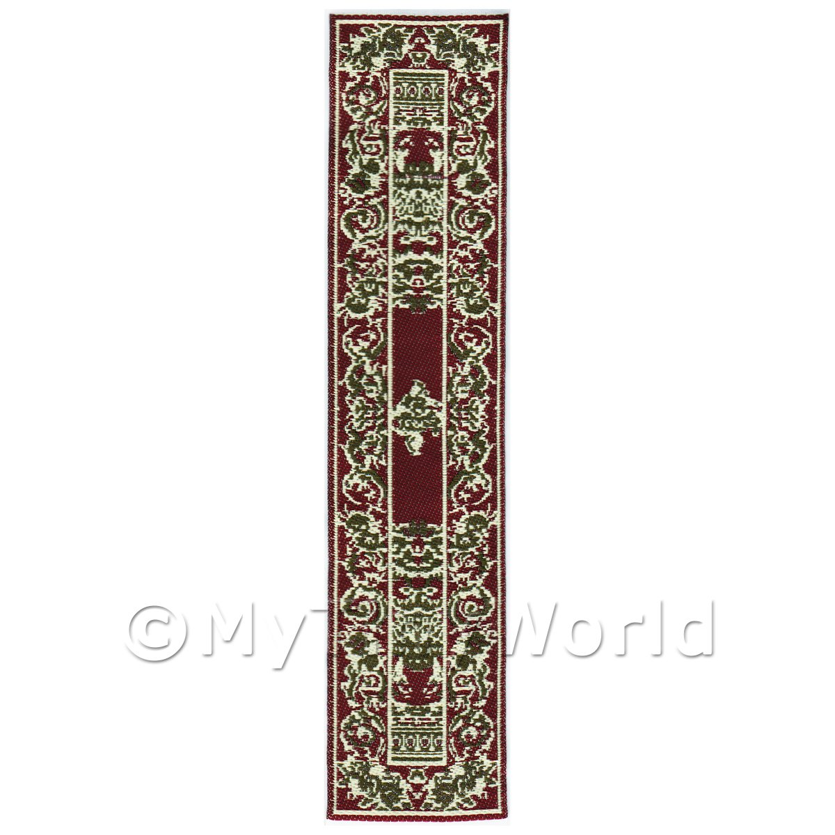 Dolls House Miniature 24cm Woven Turkish Hall Runner (TR003)