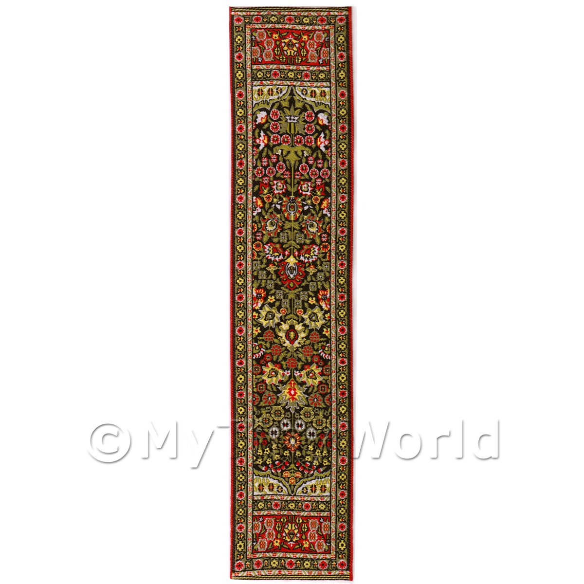 Dolls House Miniature 24cm Woven Turkish Hall Runner (TR005)