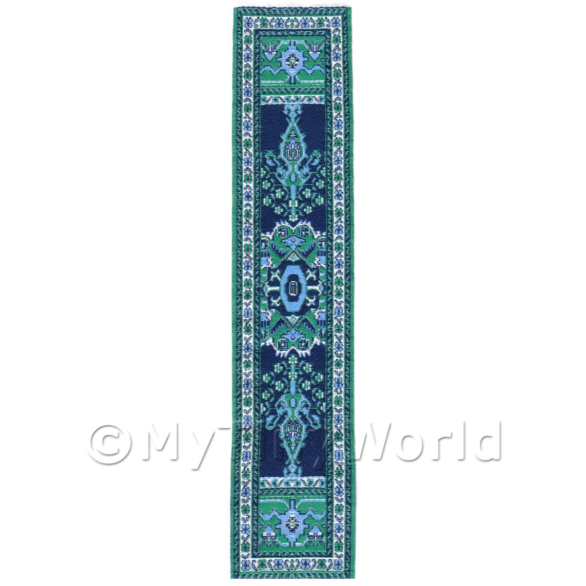 Dolls House Miniature 24cm Woven Turkish Hall Runner (TR047)